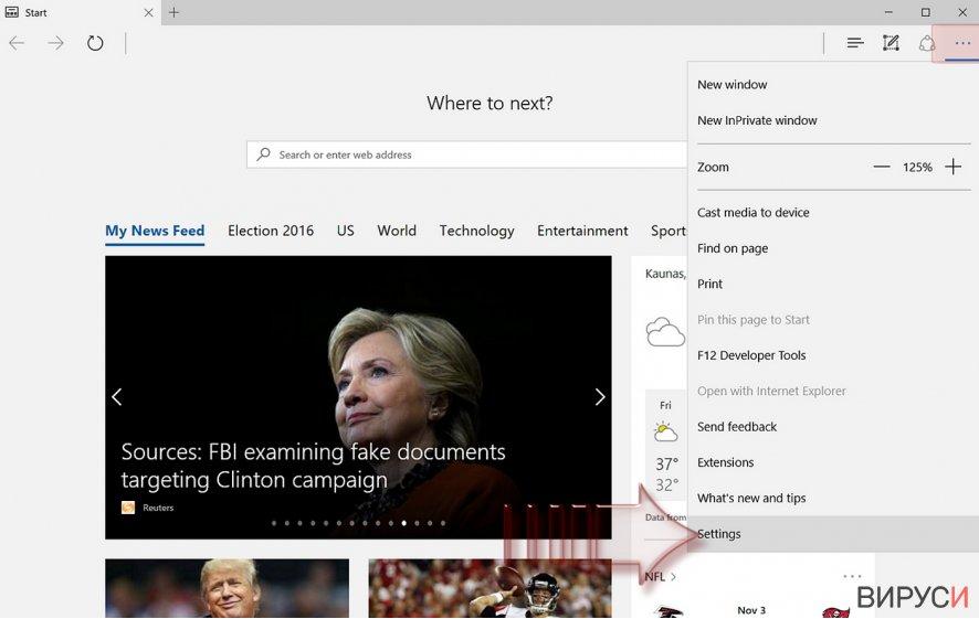 Екранна снимка на Как да нулираме настройките на Microsoft Edge?
