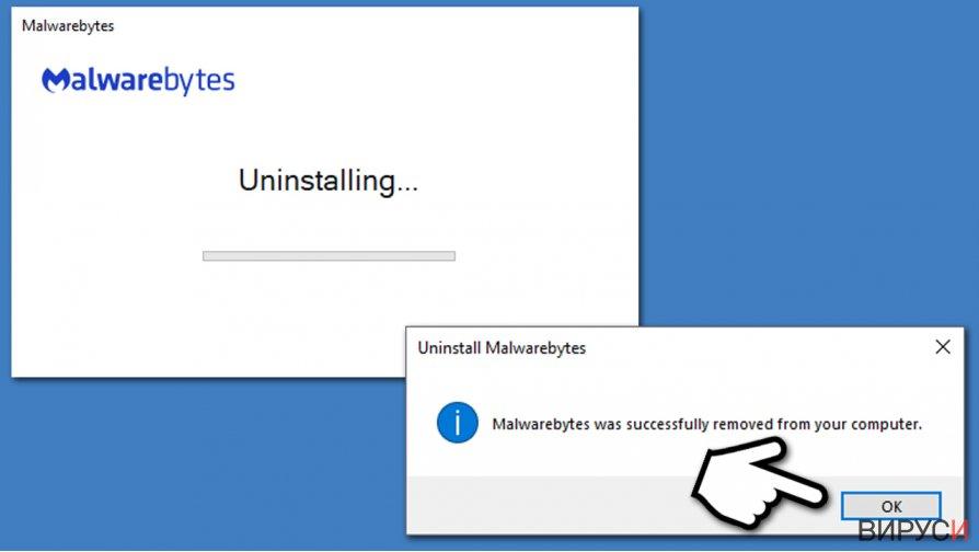 Finish Malwarebytes uninstall