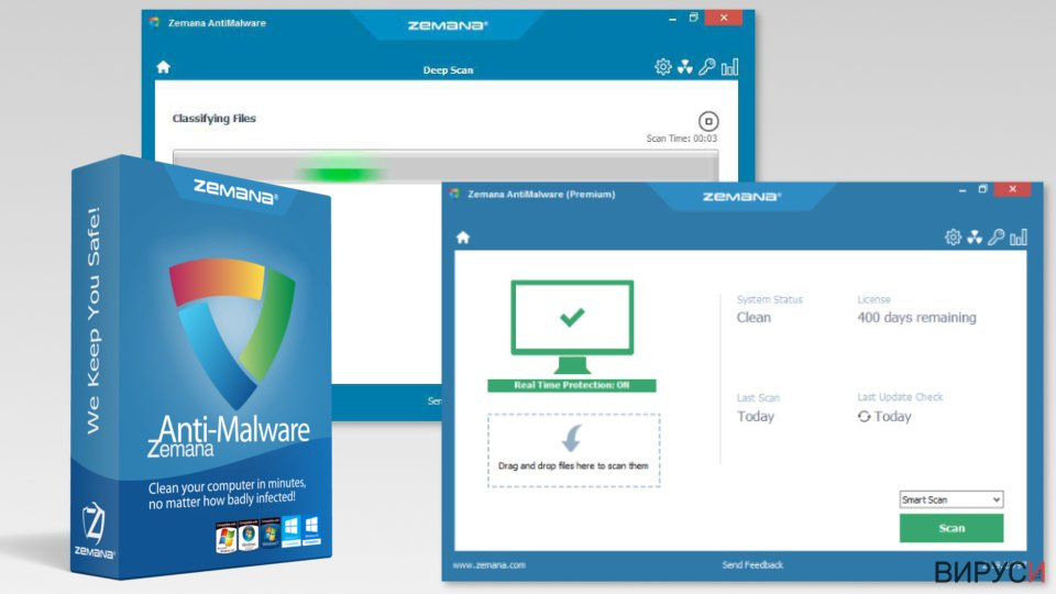Screenshot of Zemana AntiMalware