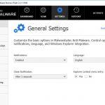 Екранна снимка на Malwarebytes Anti Malware