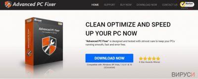 Екранно изображение на вируса Advanced PC Fixer