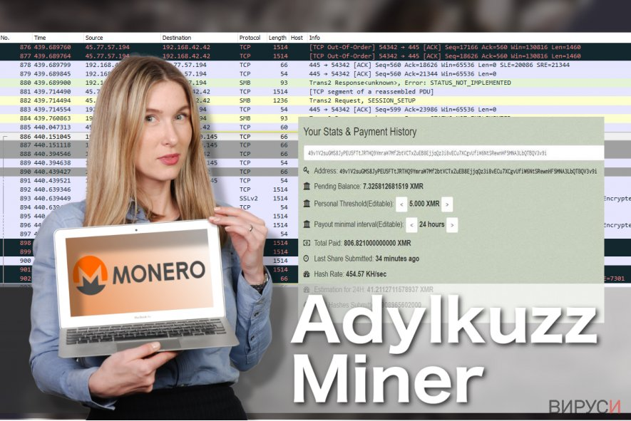 Илюстрация на вируса Adylkuzz Miner