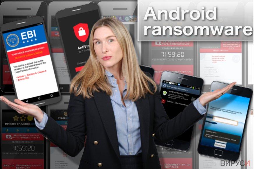 Екранна снимка на рансъмуер вирус за Android