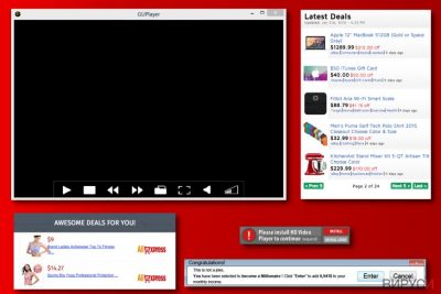 Примери за рекламите на GUPlayer