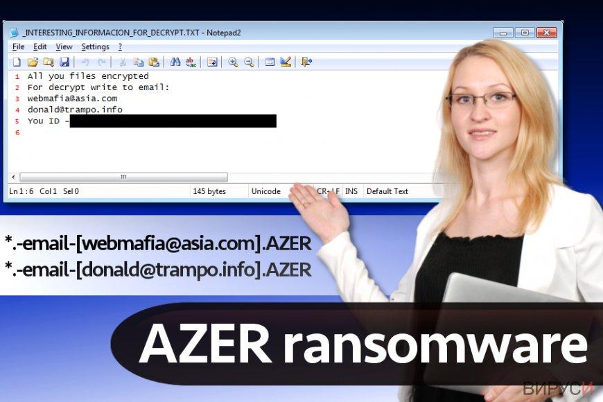 Рансъмуер вирусът Azer