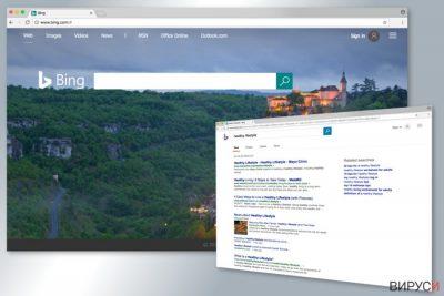 Пример за търсачката Bing