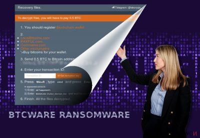 Скриншот на вируса BTCware