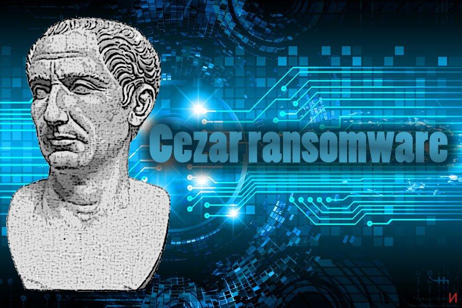 Екранна снимка на Рансъмуер вирусът Cezar