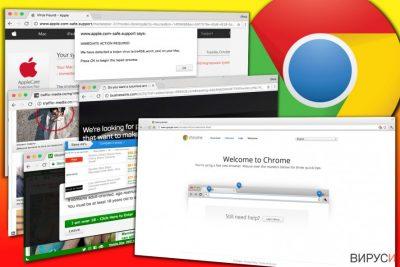 Примери за реклами показвани то адуера Chrome