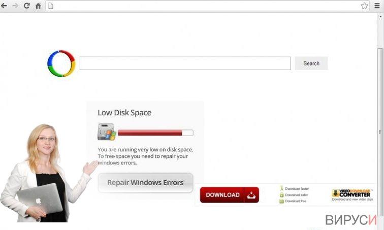 Chrome-пренасочващ вирус