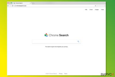 Началната страница на ChromeSearch.club
