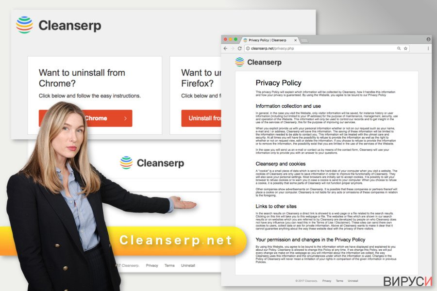 Илюстрация на вируса Cleanserp.net