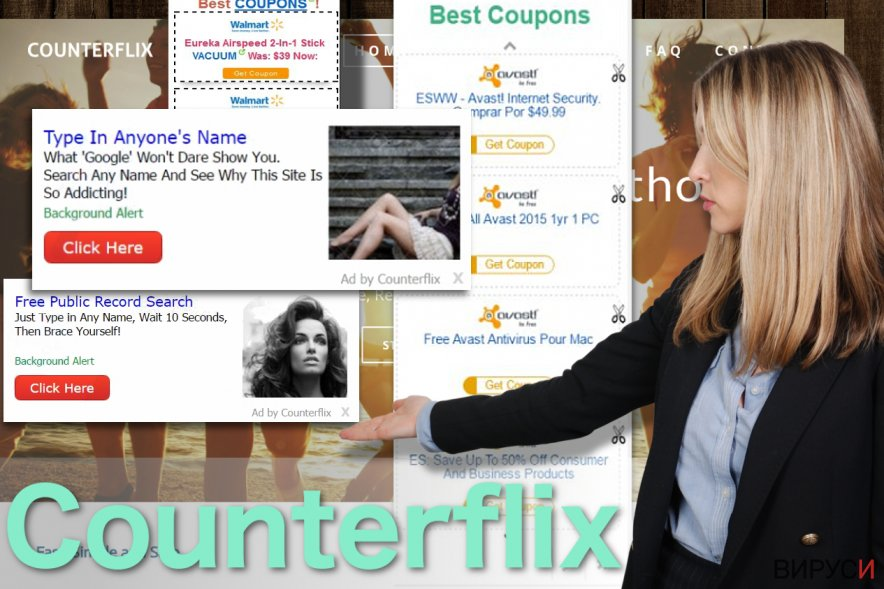 Изображение на рекламите на Counterflix