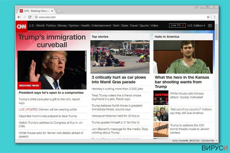 Екранна снимка на Реклами от Counterflix
