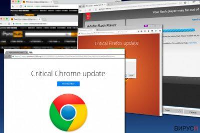 Зловредният софтуер Важна актуализация на Chrome