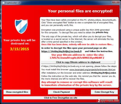 Cryptolocker-v3 virus