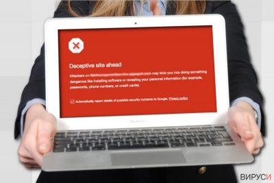 Предупреждението за Опасен сайт на Google
