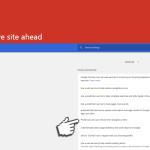 Екранна снимка на Deceptive site ahead