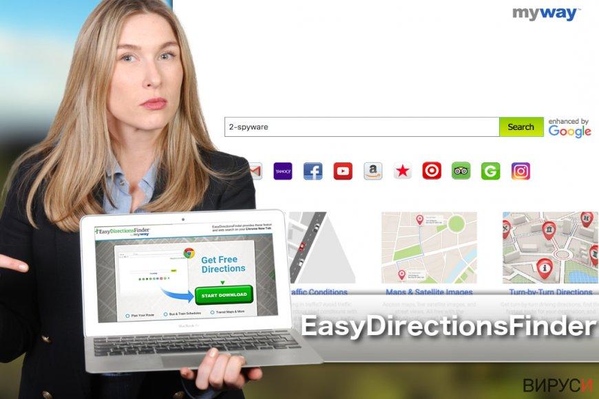Изображение на лентата с инструменти EasyDirectionsFinder