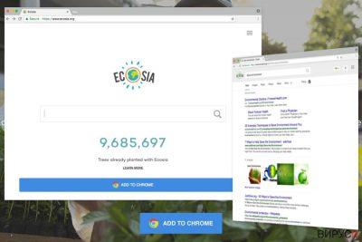 Пример за Ecosia.org