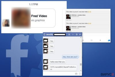 Примери за Facebook Message вируса