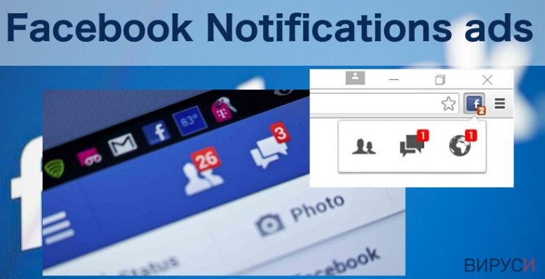 An illustration of the Facebook Notifications virus