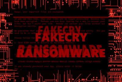 Изображение, показващо вируса FakeCry