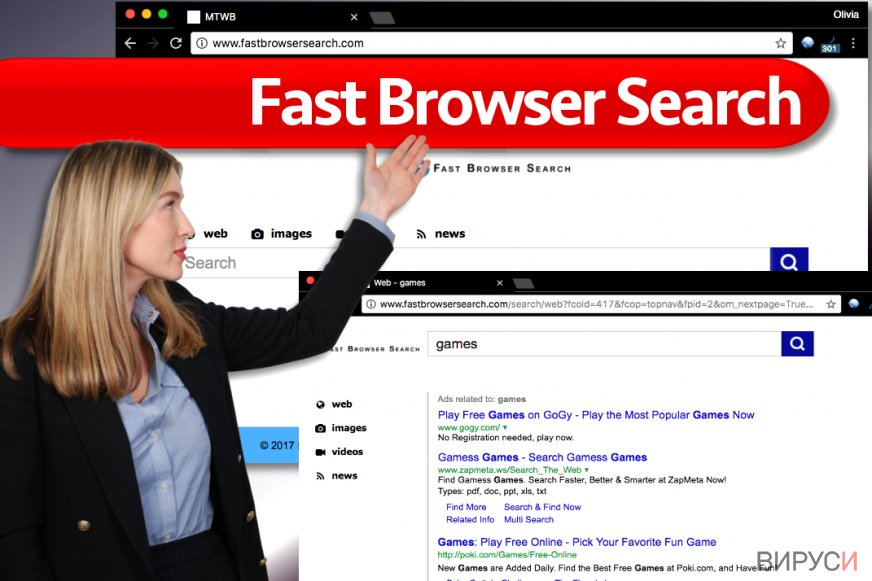 Вирусът Fast Browser Search