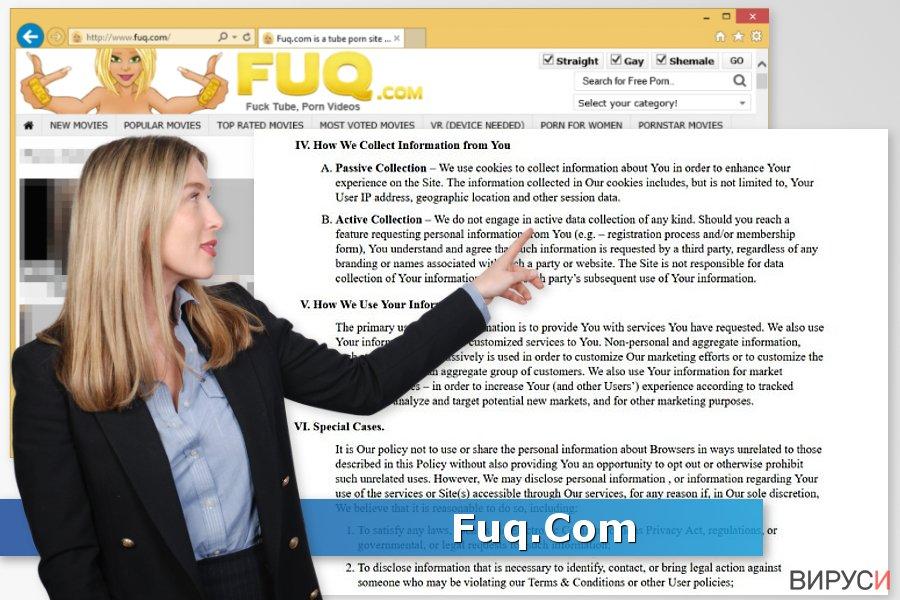 Екранна снимка на Вирусът Fuq.Com