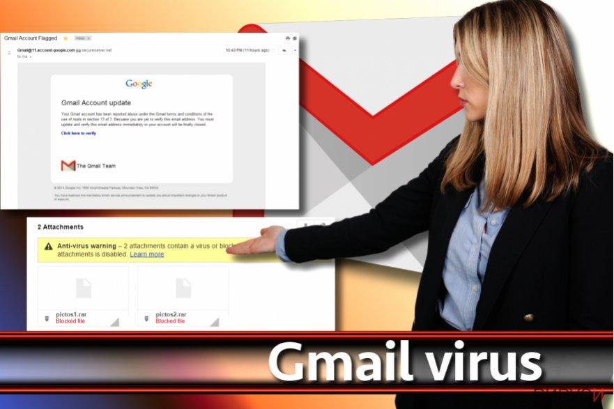 Моментно изображение на вируса Gmail