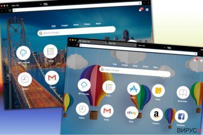 Различни дизайни на търсачката Handy-Tab.com