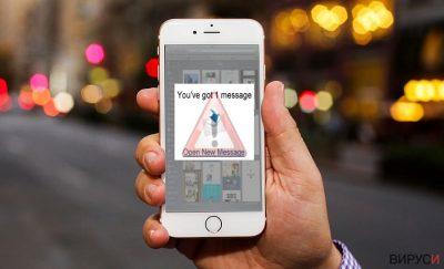 Изображение показващо iOS вируса
