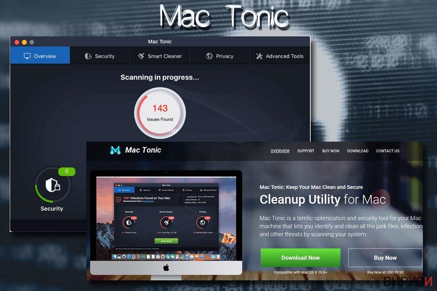 Mac вирусът Mac tonic