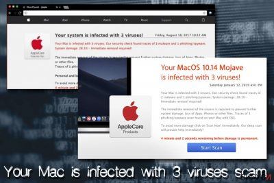 Mac вирусът Your Mac is infected with 3 viruses