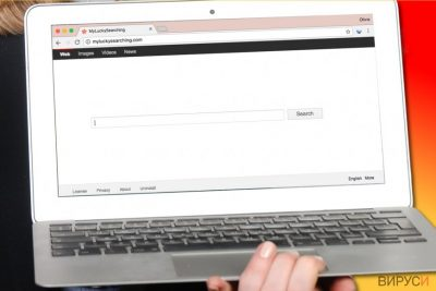 Вирусът MyLuckySearching.com в компютър