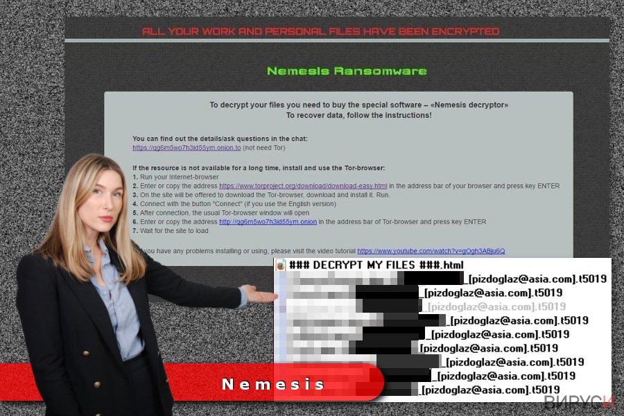 Пример за рансъмуер вируса Nemesis