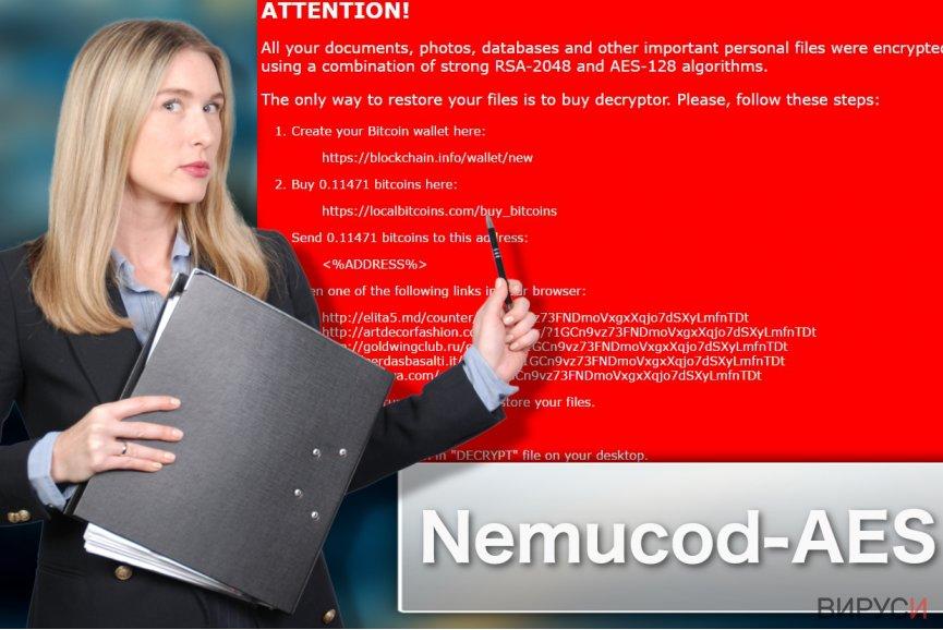Изображение на рансъмуер вируса Nemucod-AES