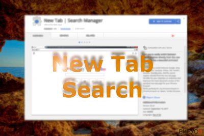 Изображение показващо New Tab Search в Chrome web store