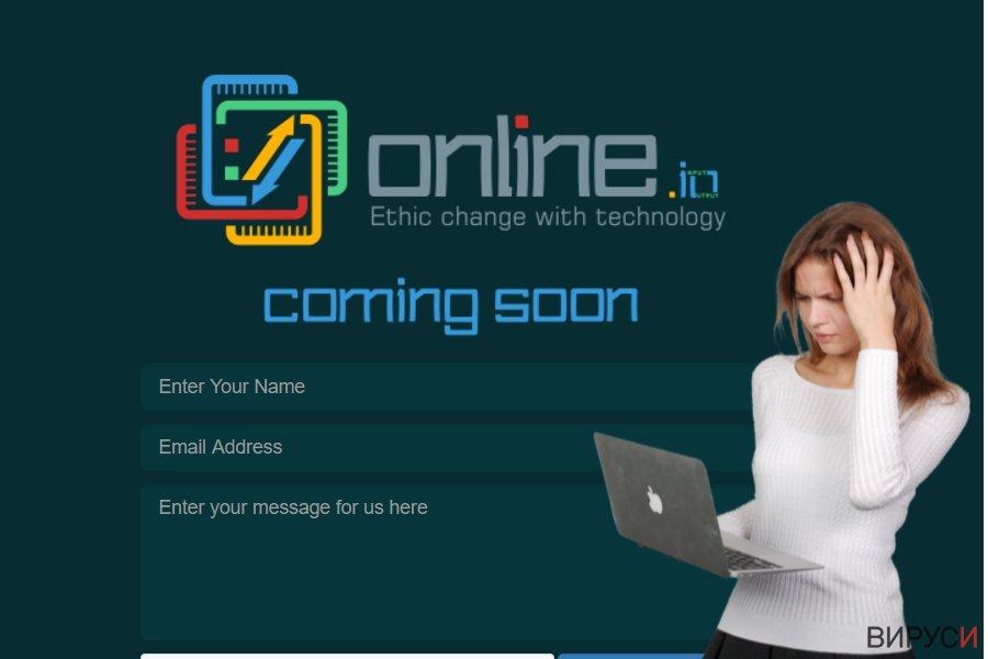 Екранна снимка на Вирусът Online.io