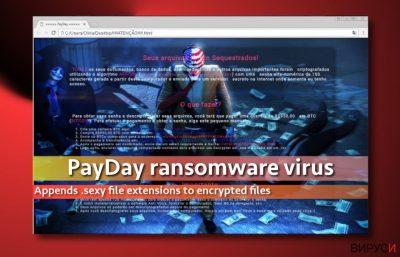Изображение на вируса PayDay