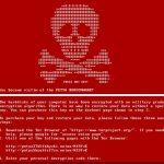 Екранна снимка на Вирусът Petya