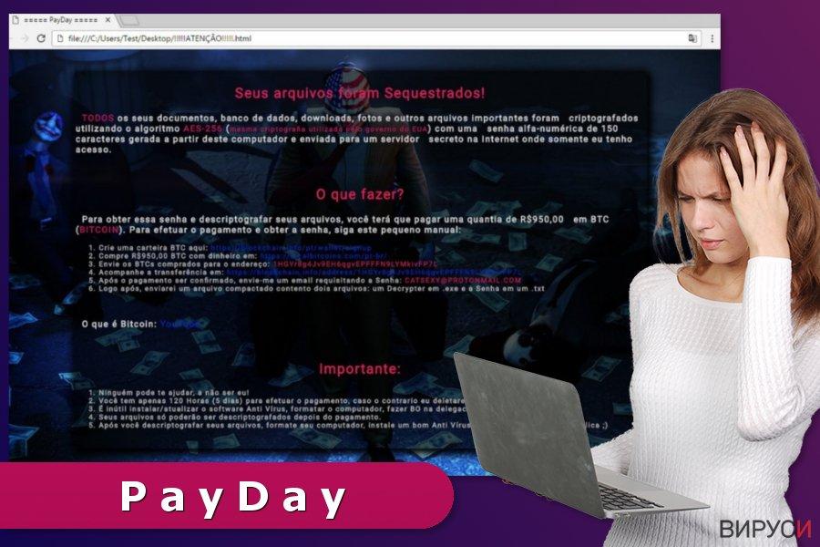Илюстрация на рансъмуер вируса PayDay