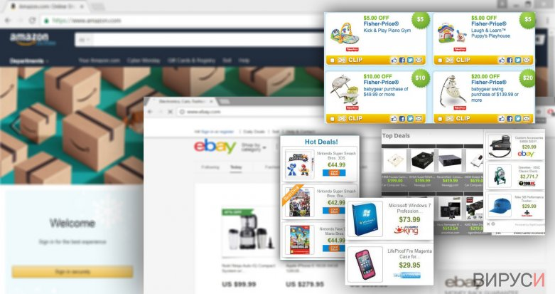 Illustration of Right Coupon pop-up ads