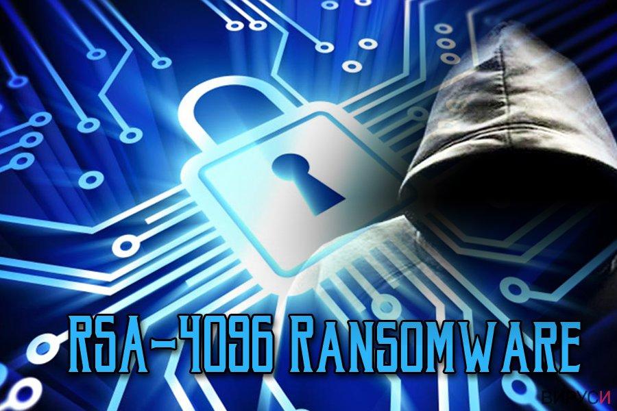 Екранна снимка на Рансъмуер вируса RSA-4096