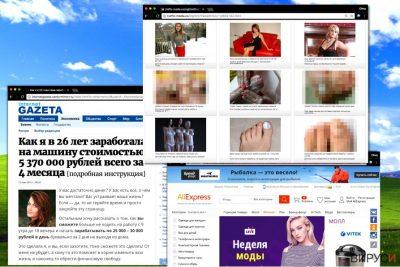 Изскачащите реклами Russian