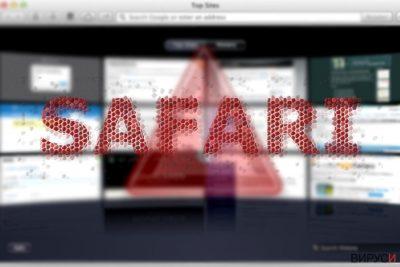 Изображение, показващо пренасочващата инфекция Safari