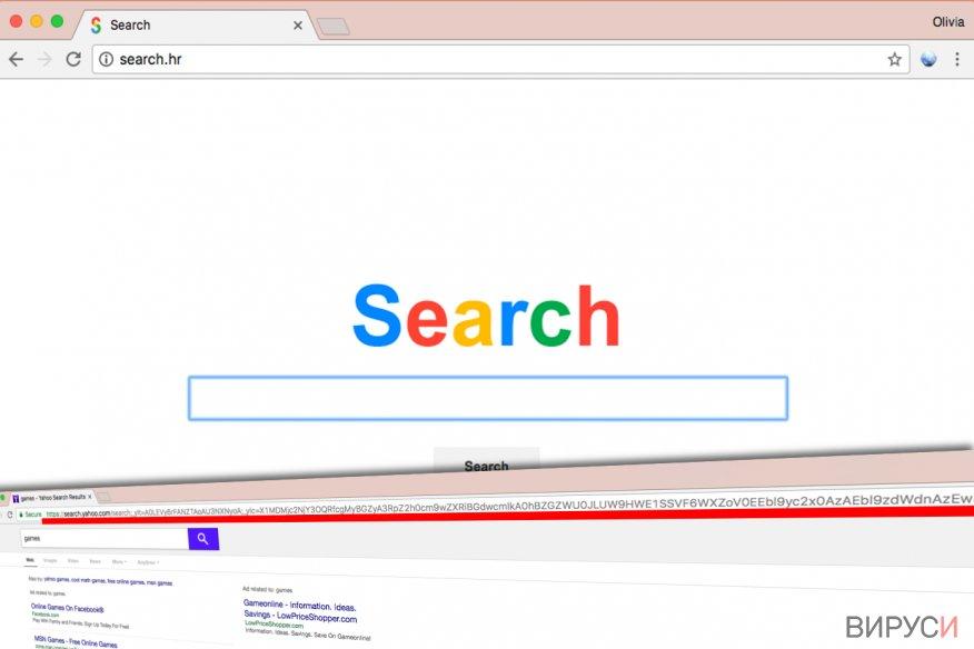 Вирусът Search.hr