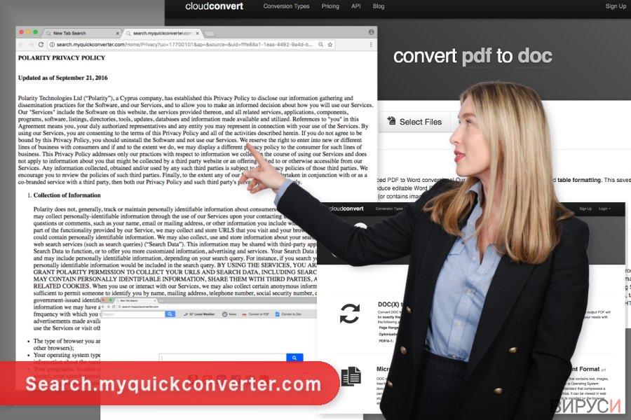 Изображение на вируса Search.myquickconverter.com