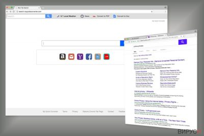 Пример за търсачката Search.myquickconverter.com