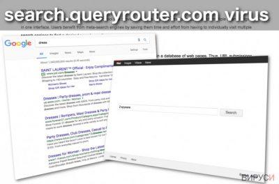 Изображение на браузър-похитителя Search.queryrouter.com